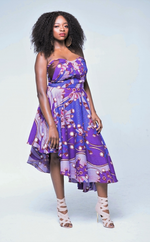 Ashley Slant Dress (Plum)